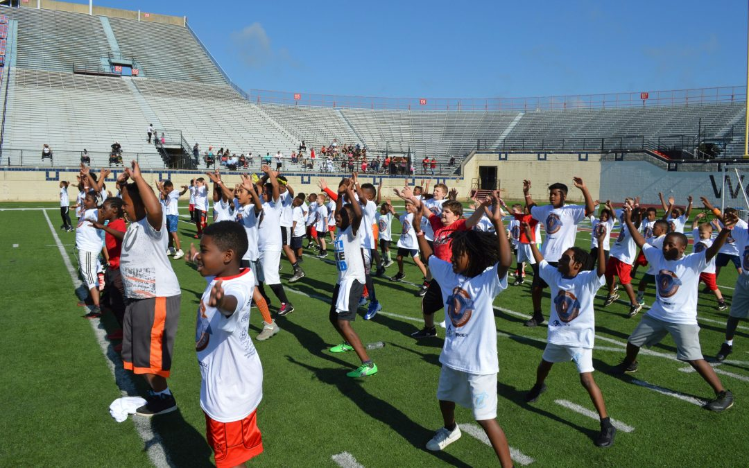 Caddo DA Football Camp Saturday Draws Hundreds
