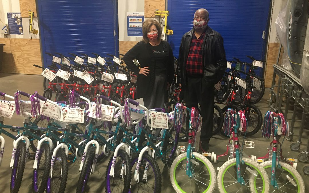 Caddo DA ramrods Christmas bike give-away